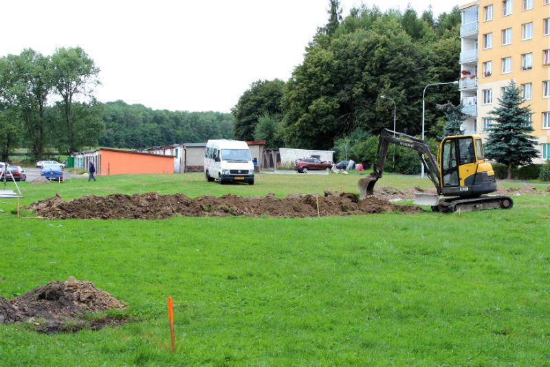 Přípravné práce začaly v pondělí 11. srpna. Foto: Martin Polák