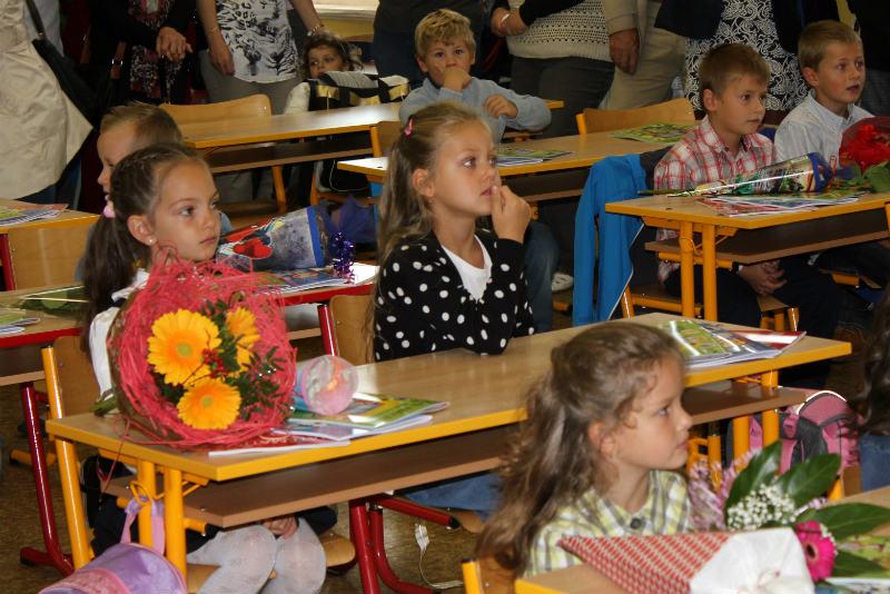 Prvňáčci v 1. základní škole v Komenského ulici. Foto: František Fišer