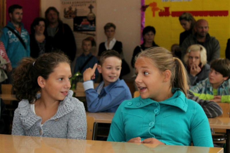 Nové žáky přivítali i v chodovském osmiletém gymnáziu. Foto: Martin Polák