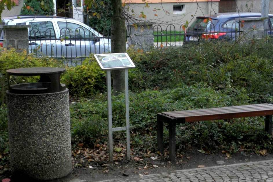 Informační tabule na dendrologické stezce v Chodově. Foto: Miloš Volek
