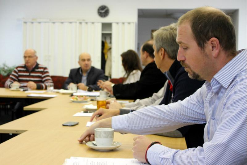Jednání prezidia probíhalo v zasedací místnosti chodovské radnice. Foto: M. Polák