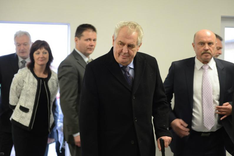 Miloš Zeman při loňské návštěvě Karlovarského kraje. Foto: www.zemanmilos.cz