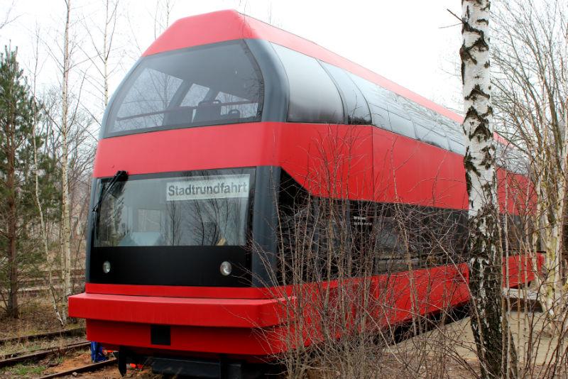 Prototyp vlaku, který se na koleje už nevrátí. Foto: Martin Polák