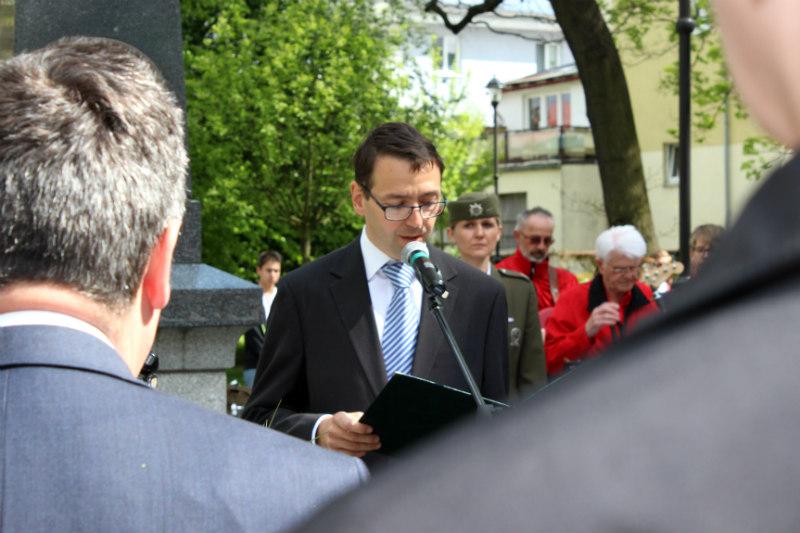 Starosta Patrik Pizinger při proslovu. Foto: Martin Polák