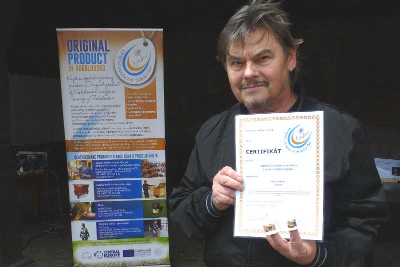 Čerstvý držitel certifikátu Petr Sedláček z Chodova. Foto:MSV