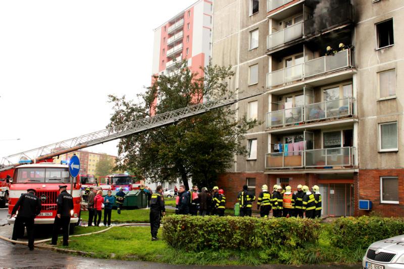 Chodovští hasiči v akci. Foto: Martin Polák