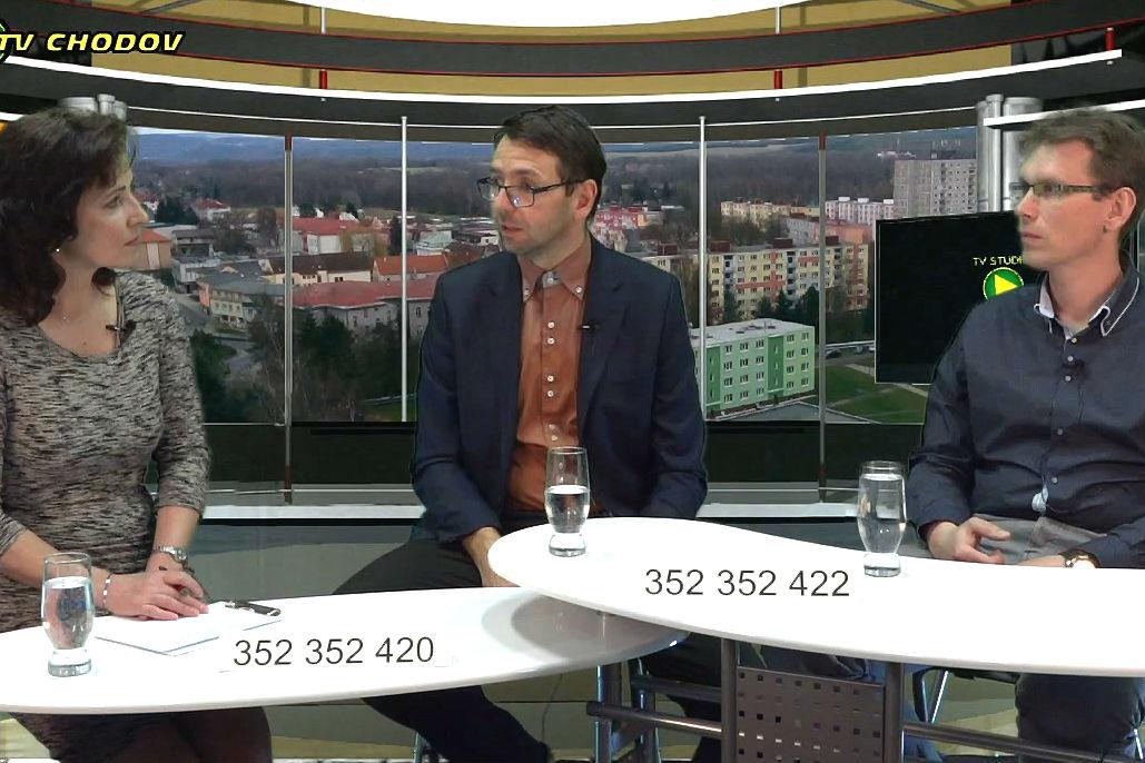 Nové pozadí v pořadu Podvečer se starostou.