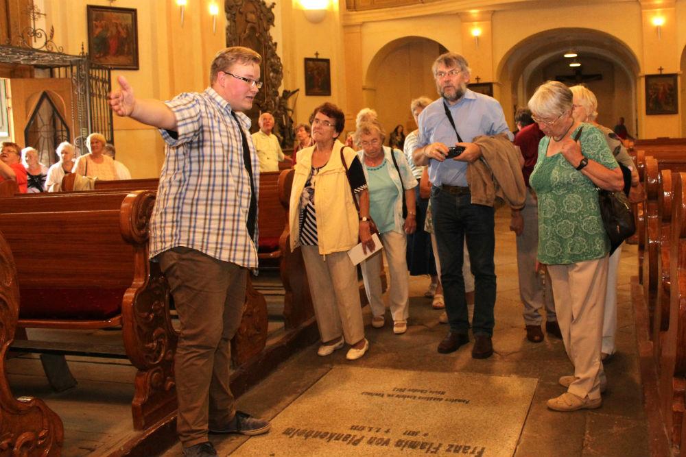 Návštěvníci si prohlédli interiér kostela svatého Vavřince. Foto: Martin Polák