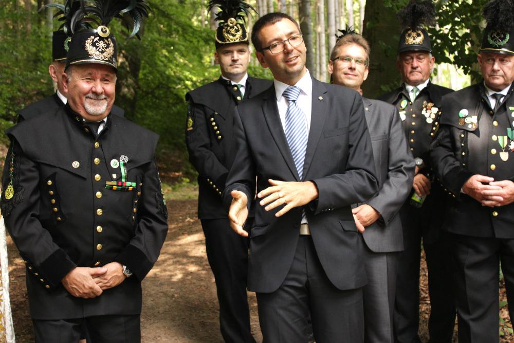 Oficiálního představení štoly se zúčastnil i starosta Patrik Pizinger. Foto: M. Polák