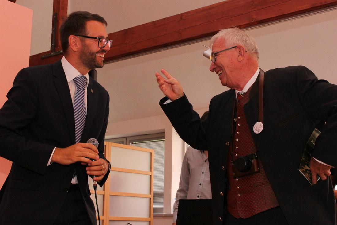 Thomas Huttig s chodovským starostou na vernisáži. Foto: Martin Polák