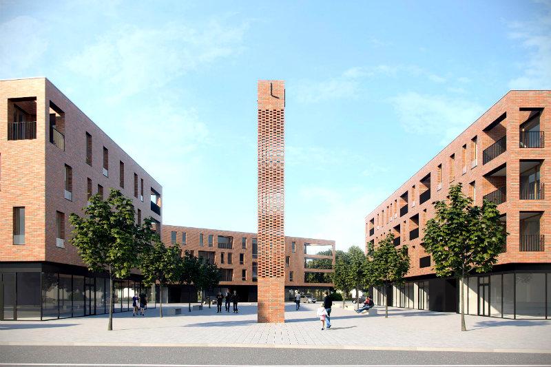 Studie nové výstavby na náměstí ČSM. Repro: JRA