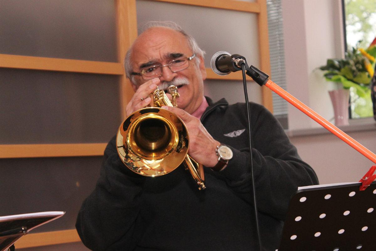 V galerii zahrál Ladislav Gerendáš s kolegou Janem Horychem. Foto: Martin Polák