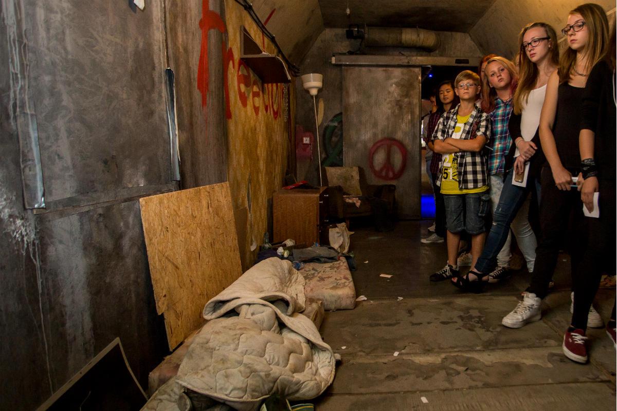 Vnitřek protidrogového vlaku. Foto: Nadační fond Nové Česko