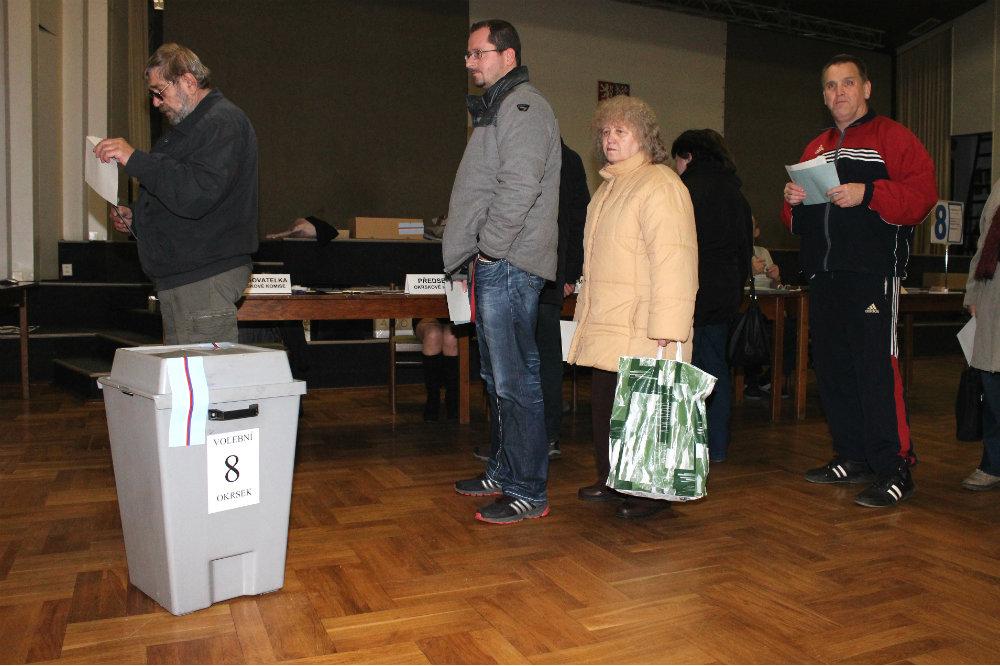 Prezidentské volby v Chodově. Foto: Martin Polák