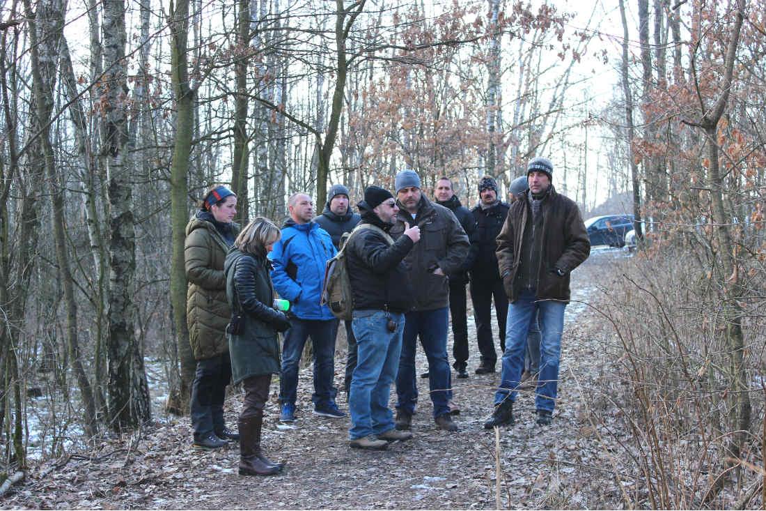 Předávání staveniště zhotoviteli. Foto: Martin Polák
