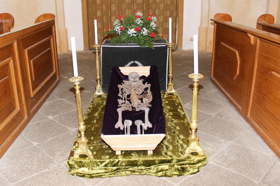 Ostatky Franze Flamina z Plankenheimu v kostela sv. Vavřince. Foto: Martin Polák