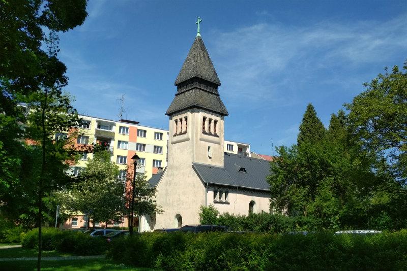 Evangelický kostel v Chodově. Foto: Martin Polák