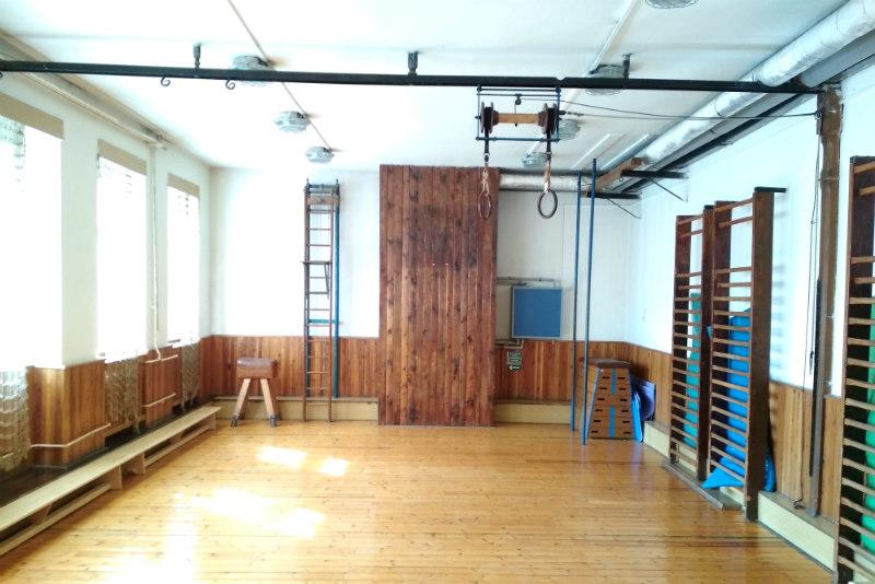 Stará tělocvična se změní na hudební sál. Foto: Martin Polák