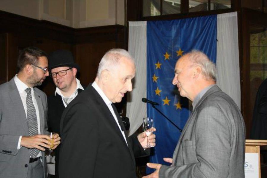 P. Pizinger, Steffen Schönicke, F. Radkovský, Wolfgang Sell (zleva) v Schilbachu. Foto: Euregio Egrensis