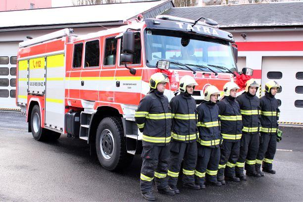 Nová cisterna chodovských hasičů. Foto: Martin Polák