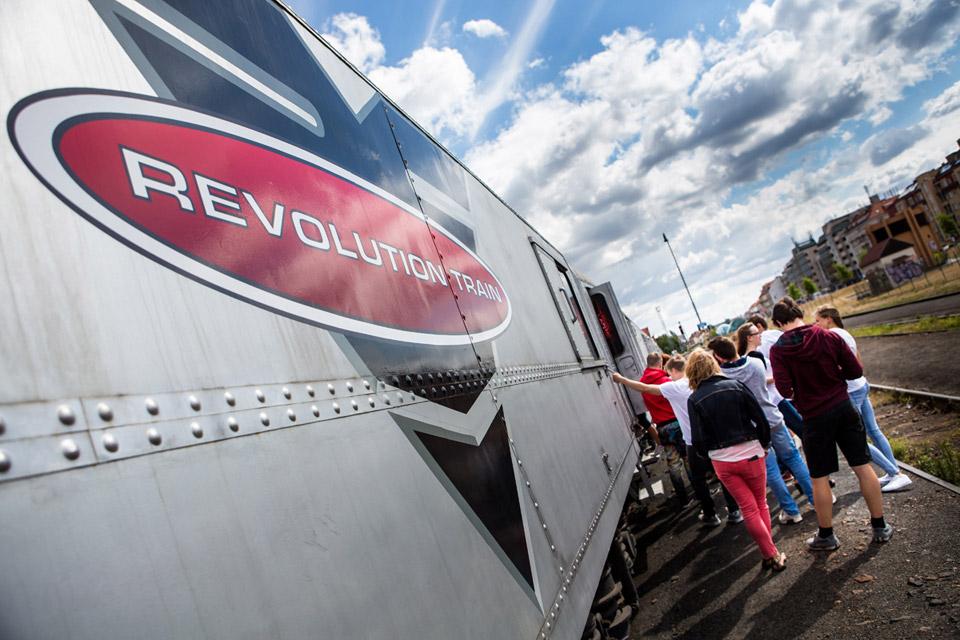 Protidrogový vlak. Foto: Nadační fond Nové Česko