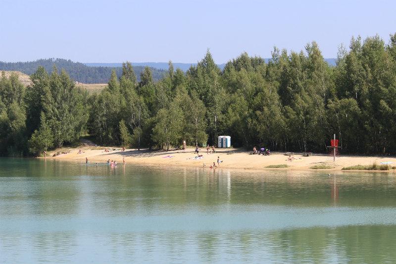 Přírodní koupaliště Bílá voda. Foto: Martin Polák