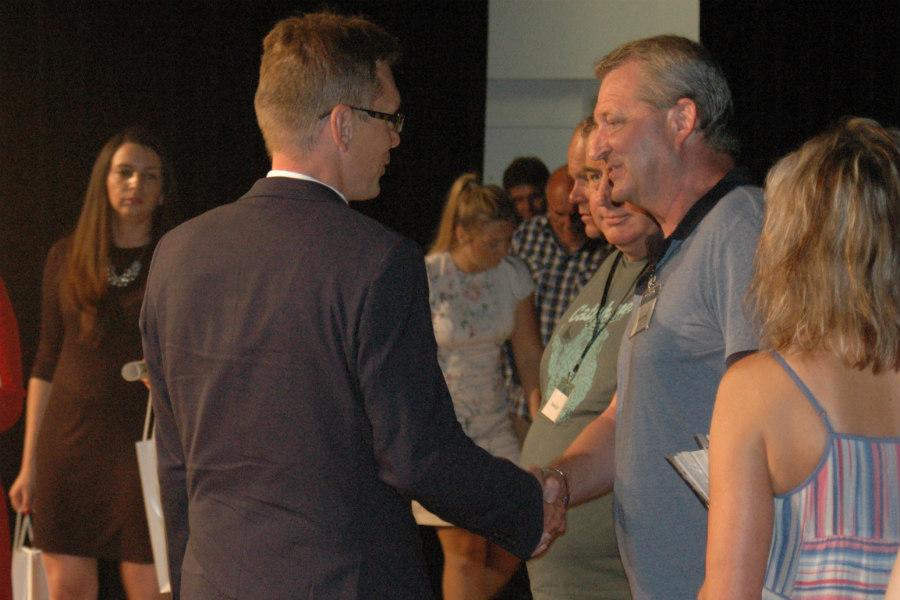 Chodov zastupoval při předávání ocenění místostarosta Luděk Soukup.