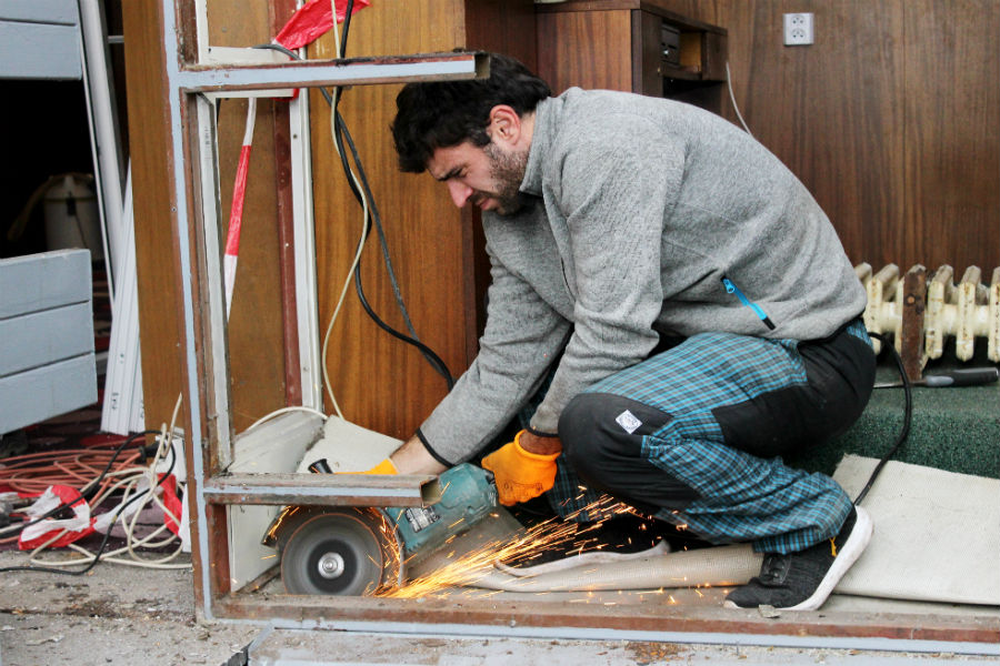 Rekonstrukce předsálí Malé scény. Foto: Martin Polák