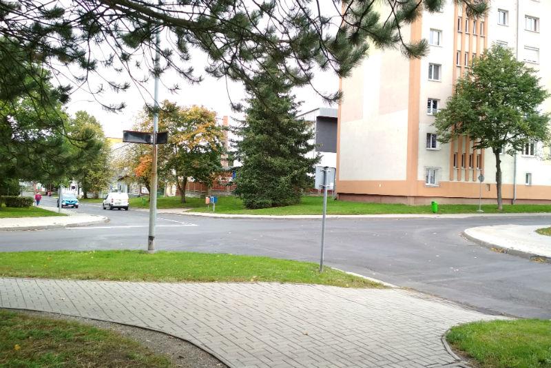 Křižovatka, kde město plánuje výstavbu dvou přechodů. Foto: Martin Polák