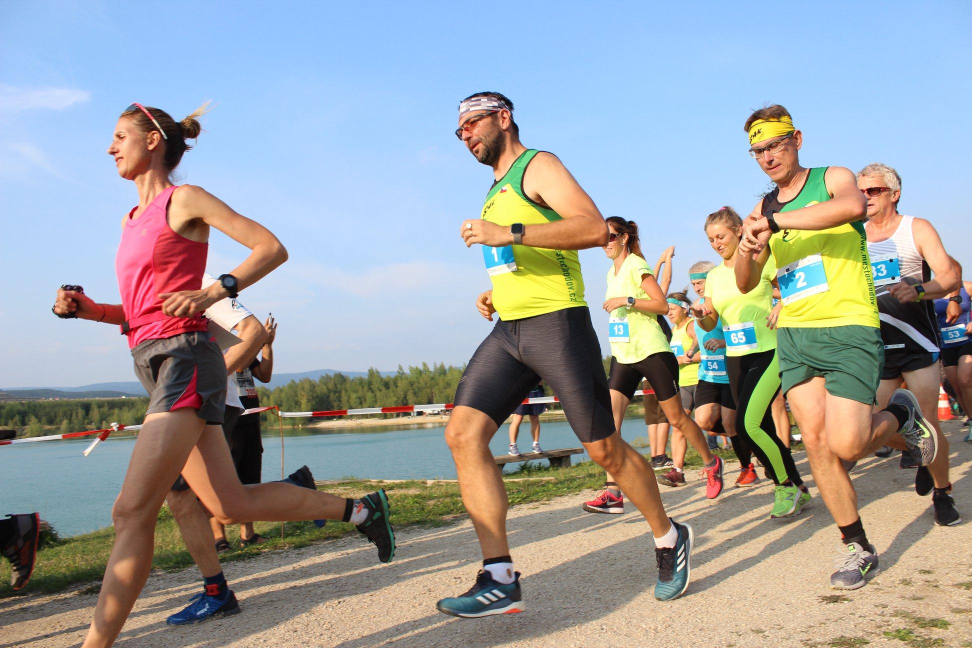 Běžecký závod Chodovská vlečka. Foto: Martin Polák