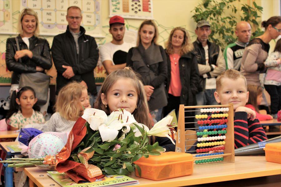 Prvňáčci ve třídě ZŠ Školní. Foto: Martin Polák