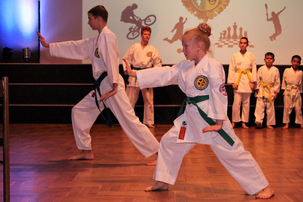 Ukázka mladých karatistů ze Samurai Fight Club Chodov. Foto: Martin Polák