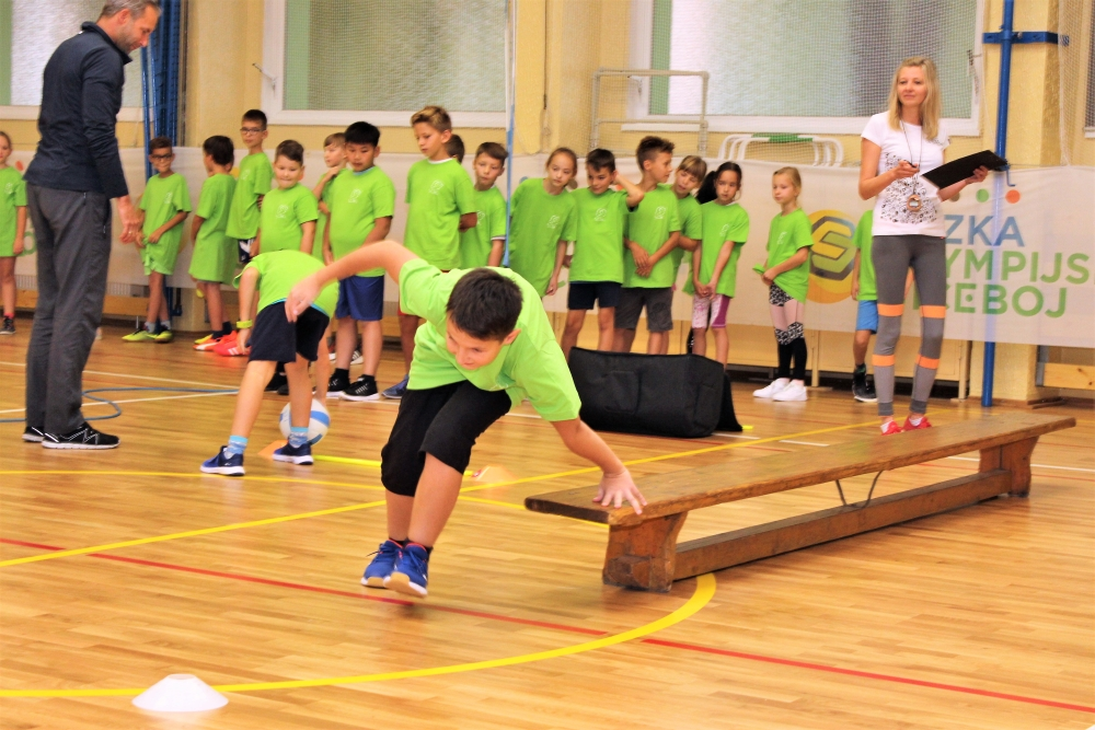 Olympijský trénink žáků ZŠ J. A. Komenského. Foto: Martin Polák