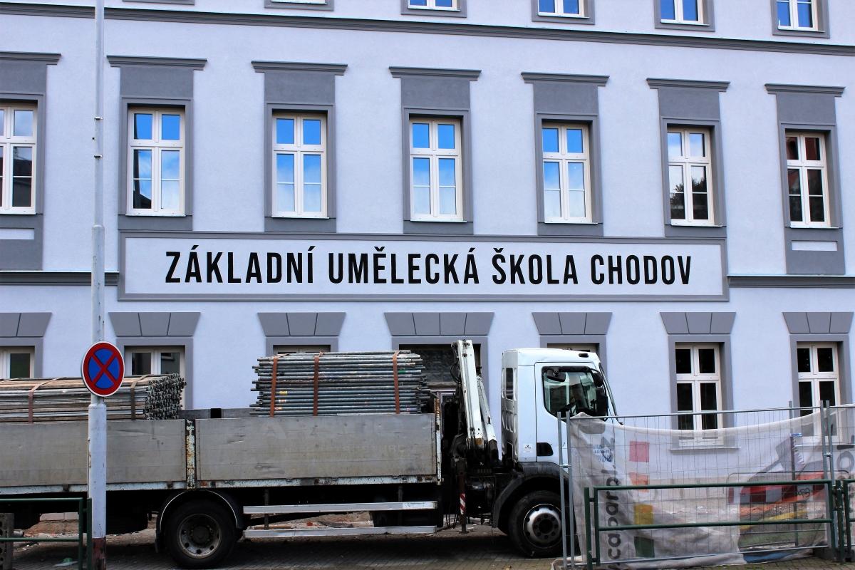 Nová fasáda přední části umělecké školy. Foto: Martin Polák