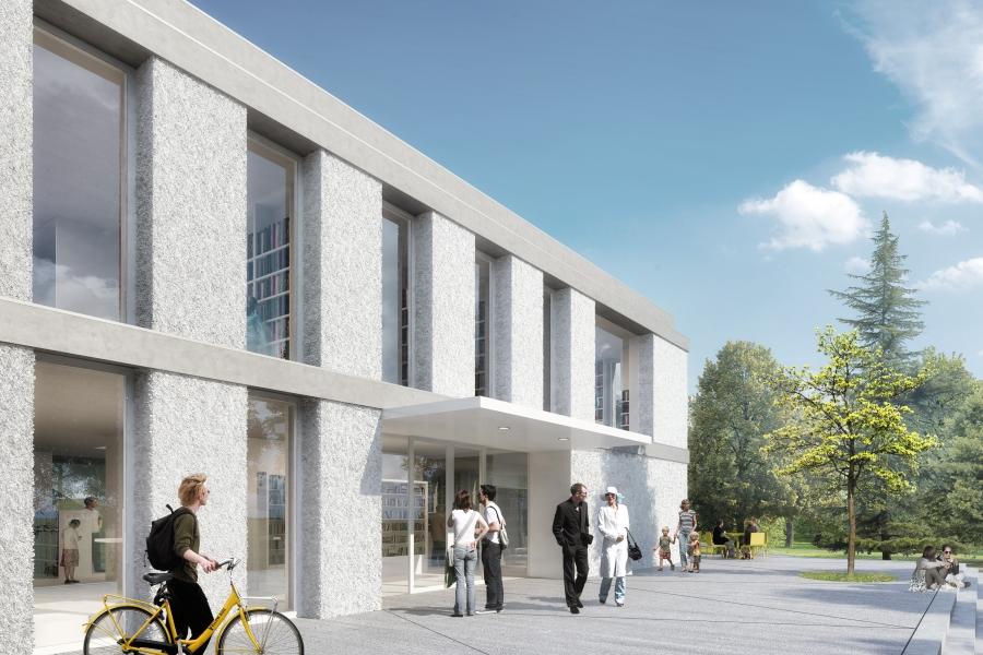 Vizualizace nové knihovny. Foto: Ateliér Kopecký