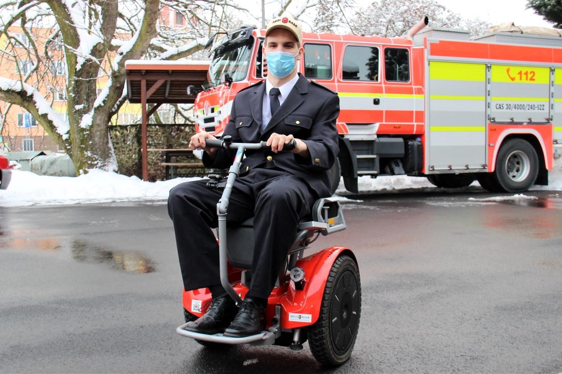 Stanislav Zatloukal na novém vozíku. Foto: Martin Polák
