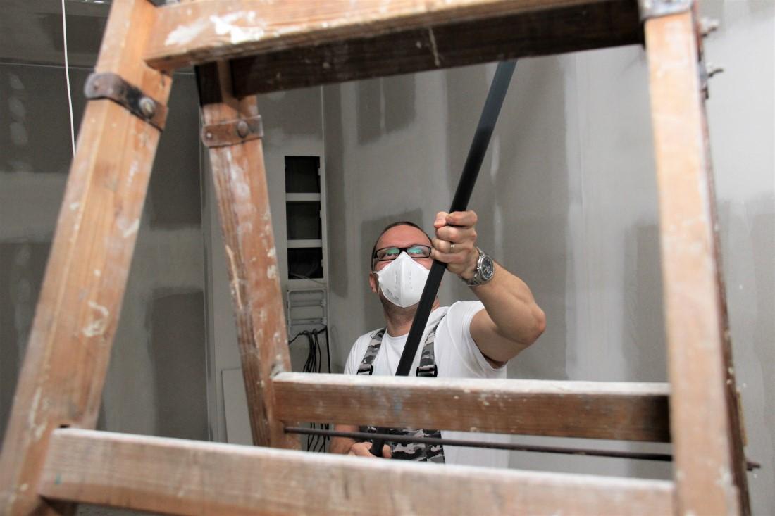 Renovace předsálí se blíží k závěru. Návštěvníci budou z konečné podoby mile překvapeni. Foto: M. Polák