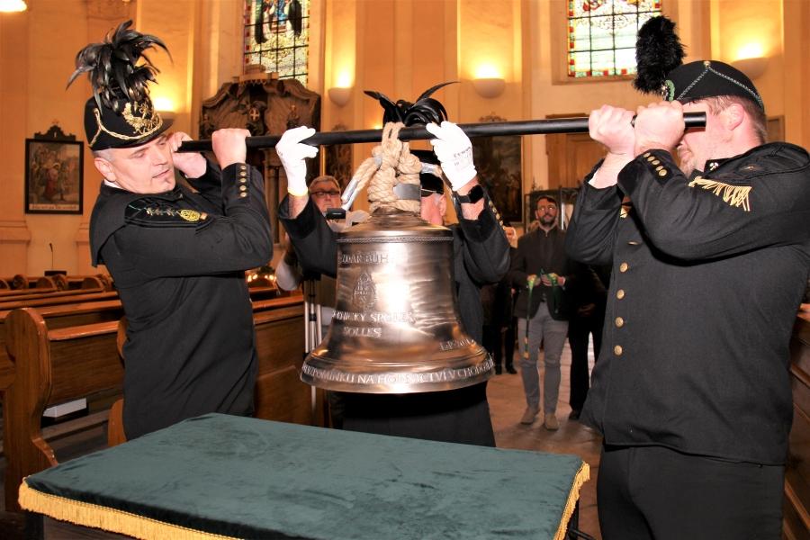 Umístění zvonu v kostele sv. Vavřince. Foto: Martin Polák