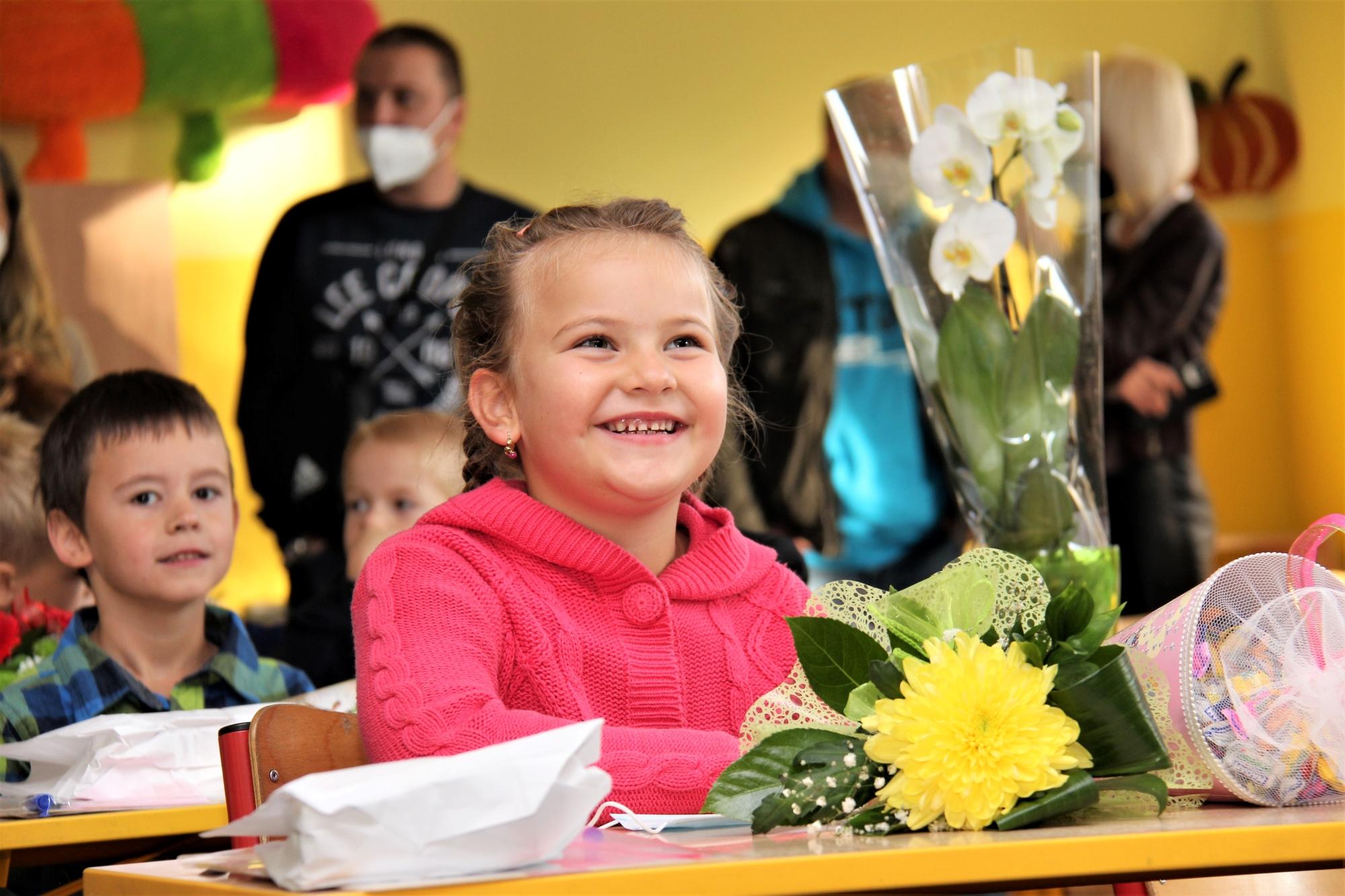 Zahájení školního roku v prvních třídách J. A. Komenského. Foto: Martin Polák